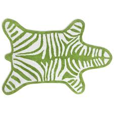 Zebra Bathroom Rug Reversible Zebra Bathmat Modern Bed Bath Jonathan Adler