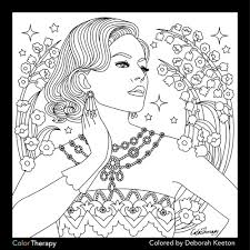 Glamorous Fashion Coloring Pages For Adults Pinterest