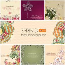 Free Floral Backgrounds Spring Floral Backgrounds Set Vector Free Download