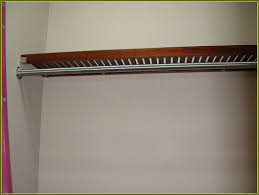 wood closet rod and shelf