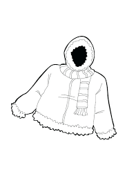 coloring pages of winter coats coat page warm jacket in c