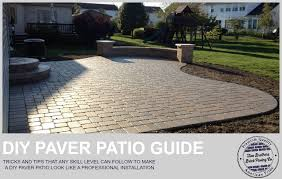 how to easily install a paver patio