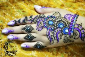 Image result for Mehendi designs with stonework