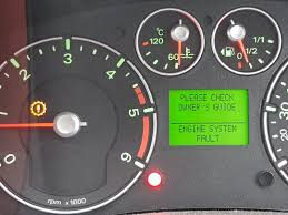 ford fiesta zetec s engine warning