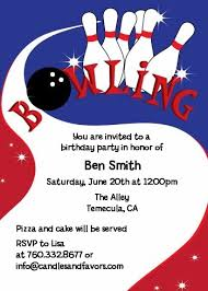 Bowling Party Invitations Bowling Boy Birthday Party Invitations Candles And Favors