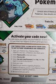Pokemon Codes Thundurus Or Tornadus
