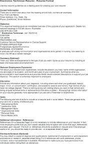 Sample Resume For Electronics Technician Electronics Technician Cover Letter Sample Electronics Technician