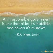 Government Quotes Awesome An Irresponsible Governme Quotes Writings By RR Matt Smith