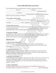 Domestic Partnership Agreement Partnership Dissolution Agreement Form With Sample Partnership 8