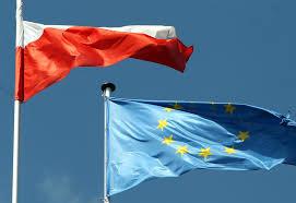 Znalezione obrazy dla zapytania flaga unii europejskiej i polski