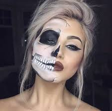 skeleton half face makeup