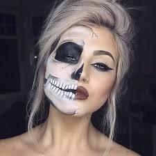 skeleton half face makeup