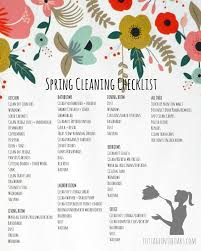 Spring Cleaning Checklist Free Printable Cottage In The
