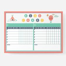 Well Chart Shop Family Kids Chart White