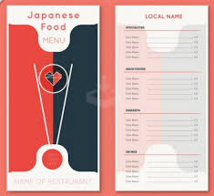 free food menu templates japanese food menu template for free graphics menu template