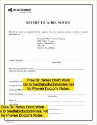 Doctors Notes Templates Fake Note Generator Download Excuses