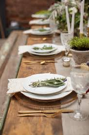 Rustic Table Settings. French Farmhouse Inspired Wedding Inspiration In  Spokane