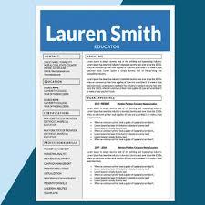 Creative Cover Letter Template Teacher Resume And Cover Letter Template Editable Resume Creative Cv Educator