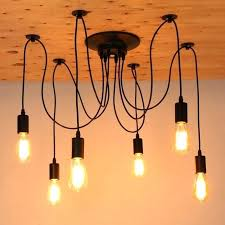 diy light chandelier retro bulb light chandelier vintage loft antique adjule art spider ceiling diy solar light chandelier