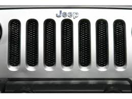 jeep wrangler grill logo. single piece grille insert for jeep wrangler jk 20072018 in gloss black by rampage grill logo