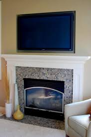 cool mounting tv above fireplace decor for your modern family room design contemporary ideas flat screen how to decorate