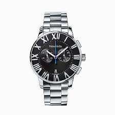 shop groom gifts tiffany co new atlas® chronograph 42 mm men s watch in stainless steel