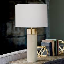 regina andrew design harlow ivory grey reen cylinder table lamp
