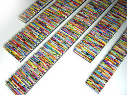 Upcycled Wall Art Barcode Wall Art Made From Recycled Magazines Colorful Art