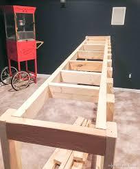 man cave wood pallet bar free diy