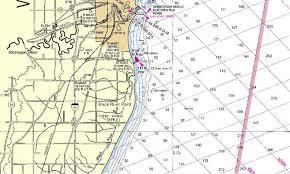 Lake Michigan Nautical Chart My Wisconsin Space Lake Michigan Nautical Chart