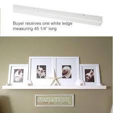 modern white picture frames. Modern White Floating Ledge For Photos, Pictures And Frames 45 1/4\ Picture T