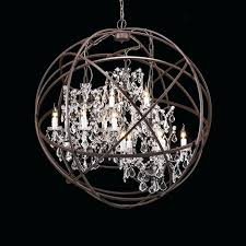 wrought iron sphere chandelier creative of black sphere chandelier chandelier white wood orb chandelier brushed nickel