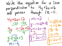 showme how to write a 5 paragraph essay day 7 write equations of perpendicular lines