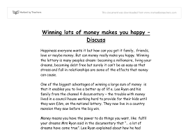 lottery essay gcse english marked by teachers com document image preview