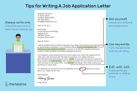 Help With Job Application How To Write A Job Application Letter With Samples