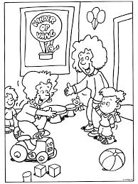 Kleurplaat Welkom Bij De Kinderopvang Kleurplatennl