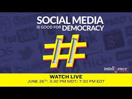 LIVE DEBATE Social Media Is Good For Democracy YouTube Interesting Live Is Good