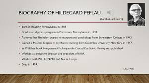 Hildegard Peplau Interpersonal Relations - ppt download
