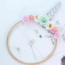2019 new cute unicorn dream catcher diy home baby carriage pendant photo clip party decoration valentines