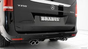 Now, its presence in xxl format is even more stylish and dynamic. 2015 Brabus Mercedes Benz V Class Exhaust Hd Wallpaper 9