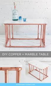 learn how to make this diy copper and marble coffee table and many other diy modern