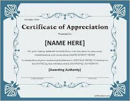 Certificate Of Appreciate Thank You Certificate Certificates Templates Free