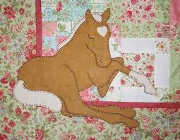 Horse Quilt Pattern Custom Pattern Palomino Dreams Applique Baby Horse Quilt Etsy