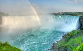 Rainbow In The Waterfall Beautiful Nature Wallpaper