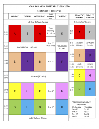 Daily Time Table Daily Timetable Oak Bay High School