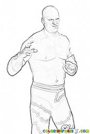 Wwe Coloring Pages Kane Coloring Page