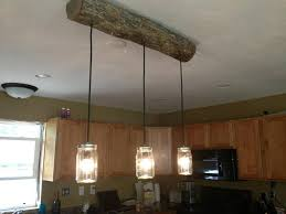 rustic lighting fixtures. DIY Cabin Light Fixture- A New Rustic Twist On Mason Jar Fixture From Pottery Barn. We Used Log The Area, But You Could Use Reclaimed Lumber.or Lighting Fixtures