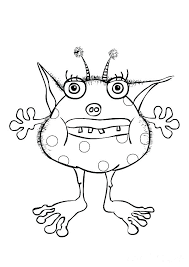 Cute Monster Coloring Pages Monster For Coloring Cute Cute Moshi