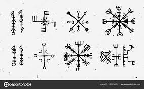футарк скандинавской исландский и набор рун викингов волшебная рука
