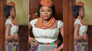 Image result for picture of omawumi during her traditional wedding